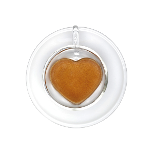 Чашка для эспрессо с блюдцем в форме сердца Caffitaly