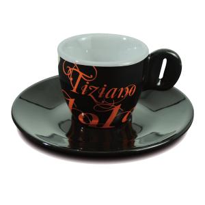 Чашка для эспрессо с блюдцем Bristot Tiziano 1919 (черн)
