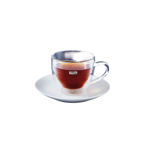 Чашка для капучино с блюдцем Caffitaly